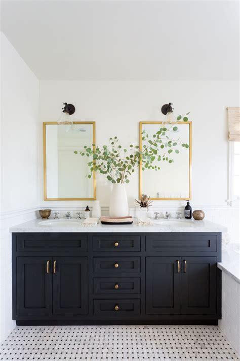 Bathroom Mirrors Black Frame by Bathroom Mirror Makeover Bathroom Mirror Lighting