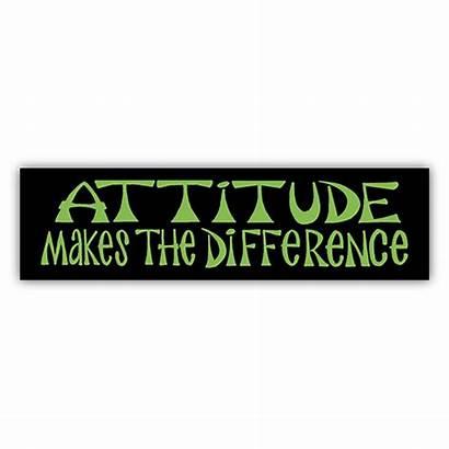 Attitude Stickers Difference Makes Bumper Sticker Bmx