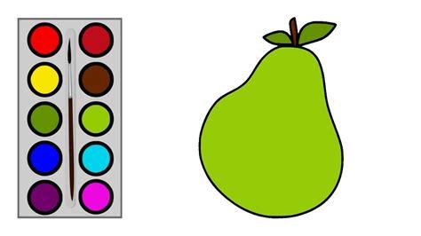 cara menggambar buah pir menggambar dan mewarnai buah
