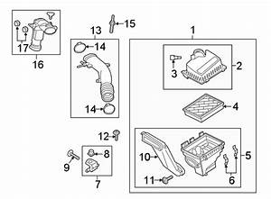 Ford Edge Clamp  Air  Housing  Filter   Upper  Lower   Liter  Cover  Tray