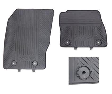 ford focus floor mats genuine ford focus 2015 onwards front rubber floor mats