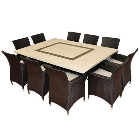 caesar outdoor 10 seat dining set in charcoal buy