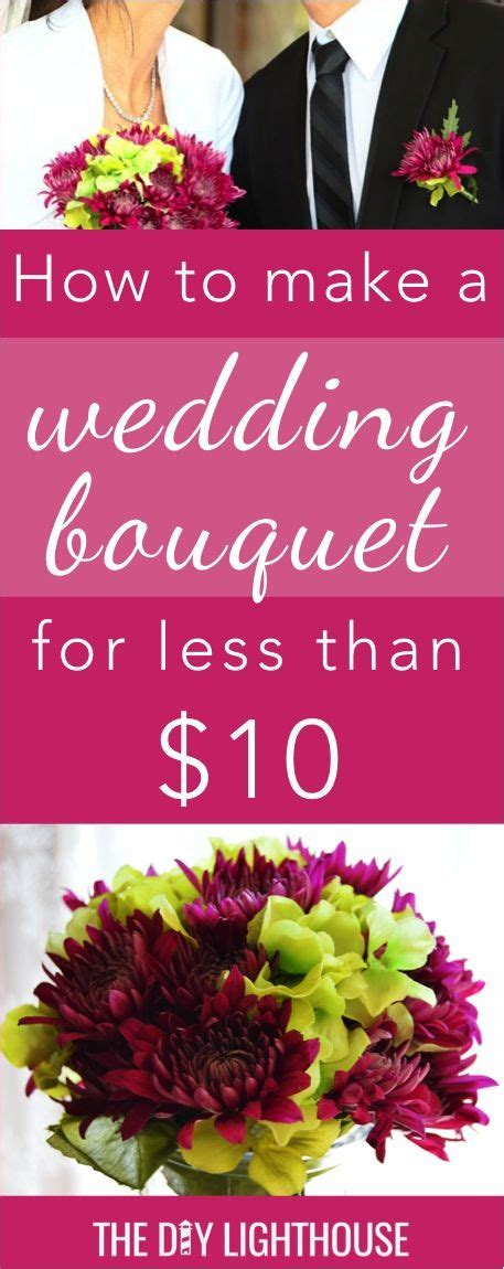 easy  cheap diy wedding bouquet