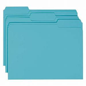 Smead 13143 teal letter size file folders 1 3 cut tabs for Smead letter size file folders