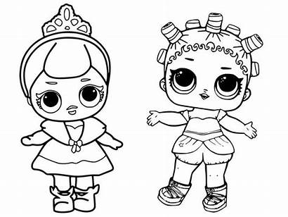 Lol Coloring Pages Surprise Queen Glitter Printable