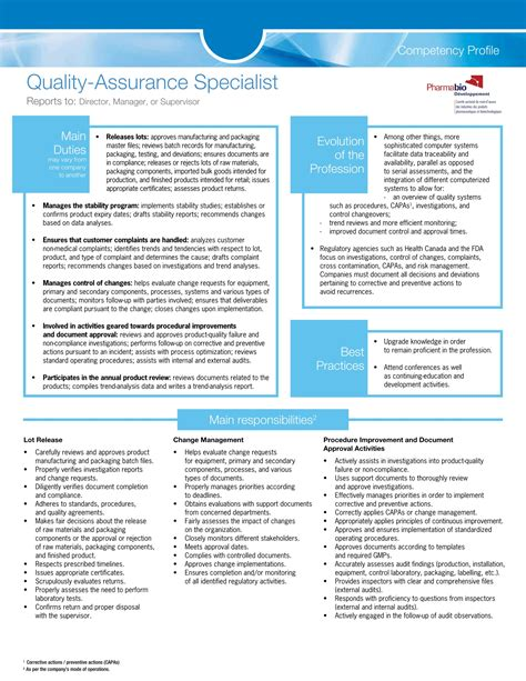 Cv Format For Quality by 14 Awesome Quality Assurance Resume Sle Templates