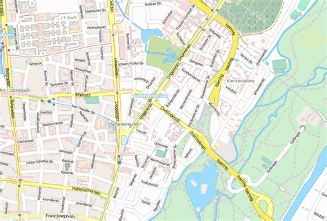 Englischer Garten München Karte Pdf by Schwabing Stadtplan Mit Satellitenbild Und Hotels M 252 Nchen