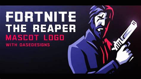 fortnite  reaper mascot logo   create esports