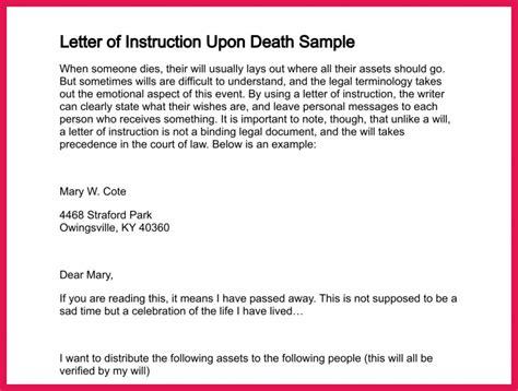 letter  instruction sample sop examples