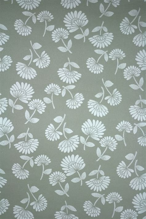 modern retro wallpaper gray and white flower wallpaper wallpapersafari