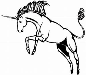 Unicorn Black And White Clipart - Clipart Suggest