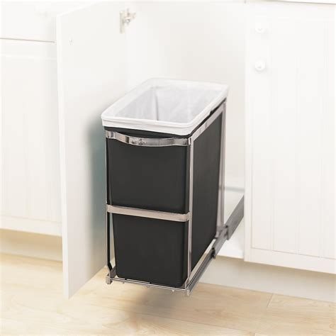 amazon com simplehuman under counter pull out trash can