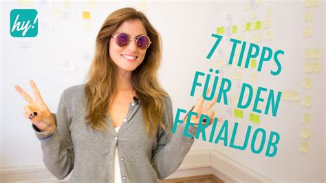 Ferienjob Im Sommer? Diese Tipps Solltest Du Kennen! Youtube
