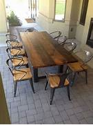 Make Outdoor Wood Table by 25 Best Ideas About Outdoor Dining Tables On Pinterest Patio Tables Outdo