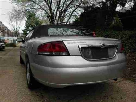 2005 Chrysler Sebring Gas Mileage by Buy Used 2005 Chrysler Sebring Touring 2d Convertible 2 7l