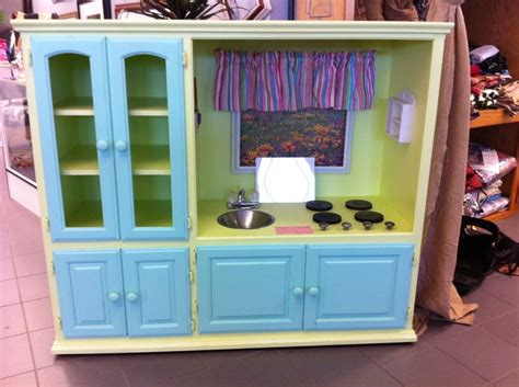 entertainment center kitchen play kitchen made out of entertainment center saw