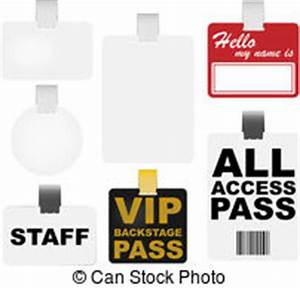 Black vip backstage pass with bar code, isolated on white ...