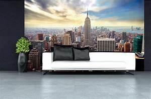 Décoration New York Chambre : idee decoration chambre ado new york 18 papier peint new york d233coration murale nyc vue du ~ Melissatoandfro.com Idées de Décoration
