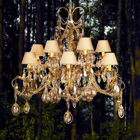 Chandelier Uk by Ornate High End Gold Swarovski Chandelier