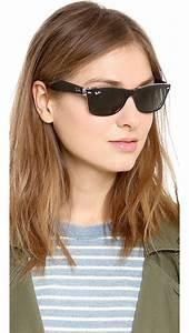 ban new transparent wayfarer sunglasses in black green