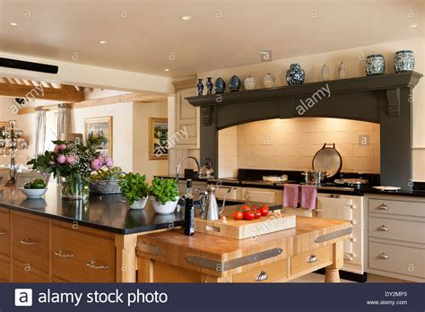 kitchen island cooker kitchen island aga cooker stock photo royalty free image 1877