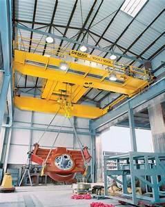 A Demag Process Crane Equipped With 100  110t Open Winch