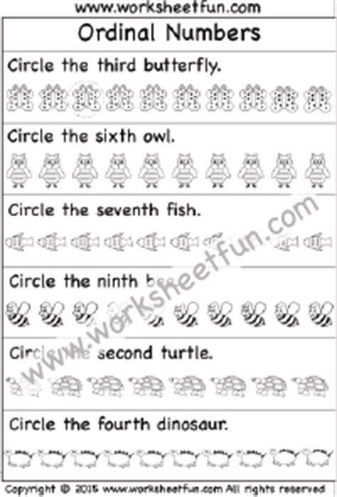ordinal numbers 2 worksheets free printable worksheets