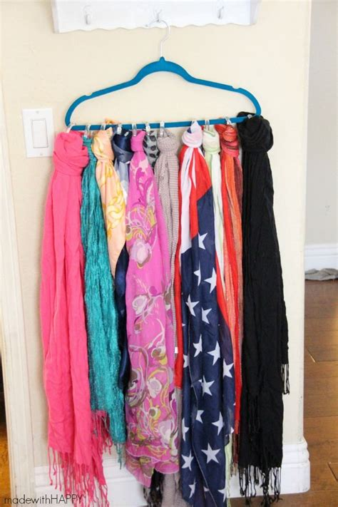 How To Organize Scarves In Your Closet by Best 25 Organizing Scarves Ideas On Scarf