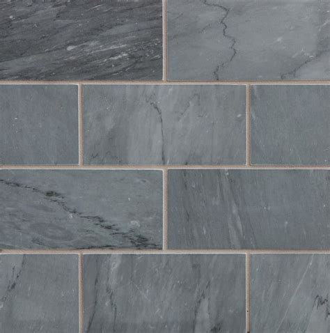 gorgeous blue grey stone subway tile  walker zanger