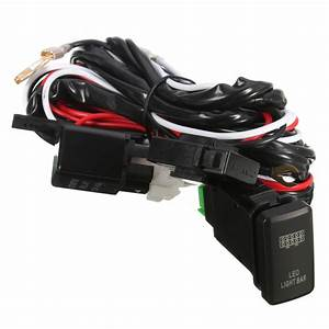 For Toyota Hiace Led Light Bar Wiring Loom Harness 40a