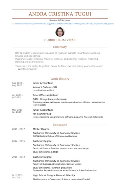 Junior Accountant Resume Templates by Junior Accountant Resume Sles Visualcv Resume Sles