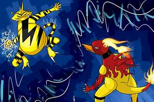 Electabuzz VS Magmar by Sorrido-Suneku on DeviantArt