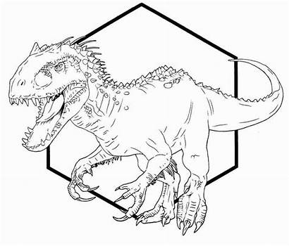 Jurassic Rex Indominus Coloring Pages Drawing Park