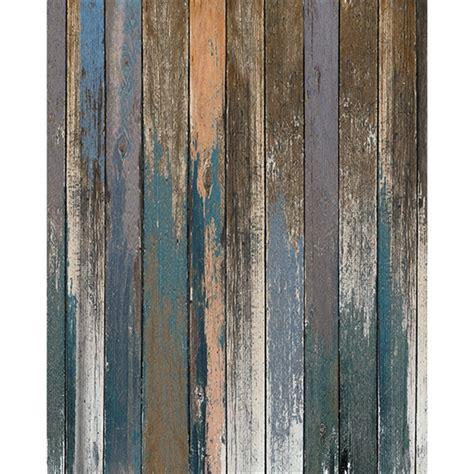 blue  peach distressed wood floordrop backdrop express