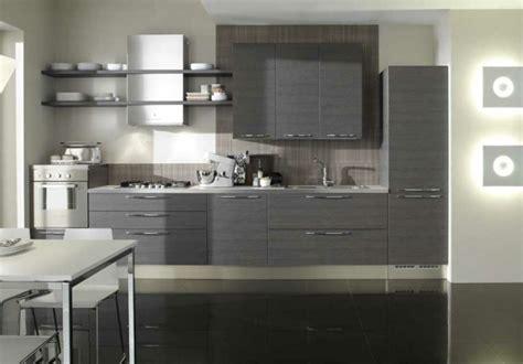 cuisine ouverte grise idee deco cuisine grise et