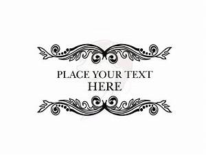 Flourish Digital Frame - Retro Vintage Ornate Digital Clip