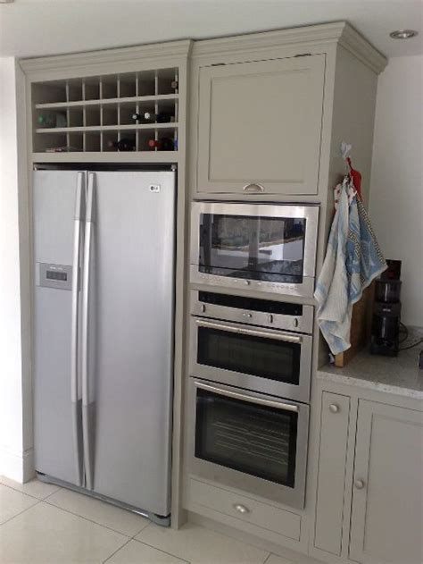 Wine Cupboards by Freestanding American Fridge With Solid Wood Cabinets And