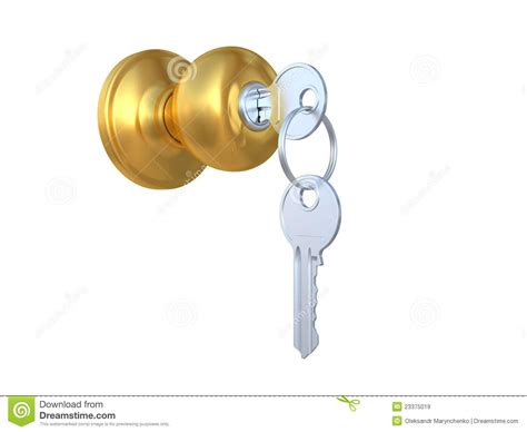 the door handle with the lock and a key stock illustration illustration of keyring handle