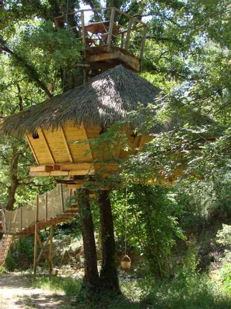 chambre d hote cabane dans les arbres les cab 39 ânes du varon cabanes dans les arbres chambre