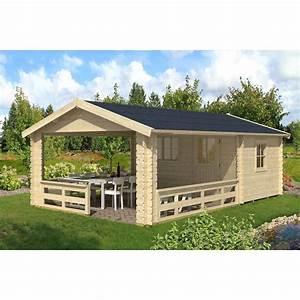 Gartenhaus Mit überdachter Terrasse : skan holz gartenhaus alicante 3 natur 380 cm x 613 cm kaufen bei obi ~ One.caynefoto.club Haus und Dekorationen