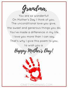 9 Free Mother's Day Printables (Poems) - Crafty Morning