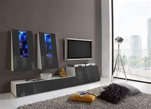 Tv Wand Weiß Hochglanz : wohnwand tv wand medienwand anbauwand anthrazit hochglanz weiss woody 29 00667 ebay ~ Indierocktalk.com Haus und Dekorationen
