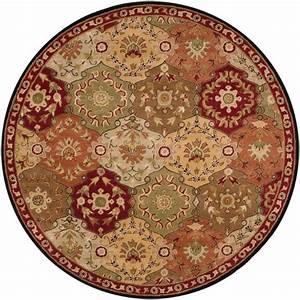 Tapis Rond Rouge : artistic weavers tapis rond abbaretz rouge en laine 4 po home depot canada ~ Teatrodelosmanantiales.com Idées de Décoration