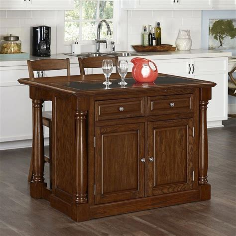 Monarch Oak Kitchen Island With Seating50069458  The