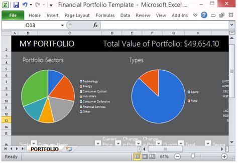 sle investment portfolio templates free financial portfolio template for microsoft excel 2013