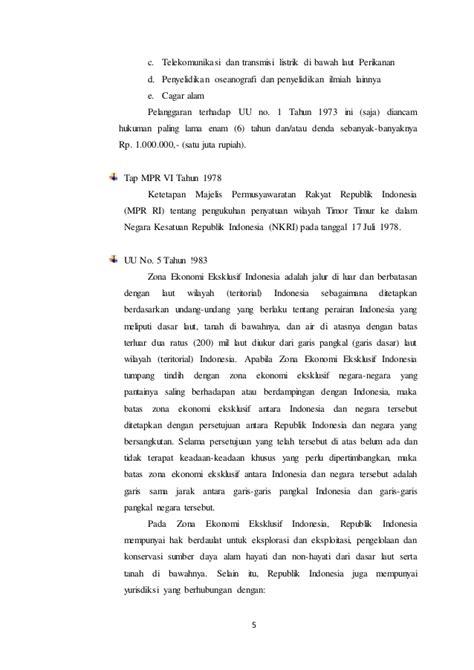 Perbedaan hukum laut internasional dan nasional