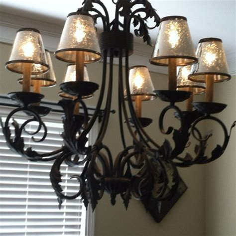 mercury glass chandeliers mercury glass chandelier shades home decor