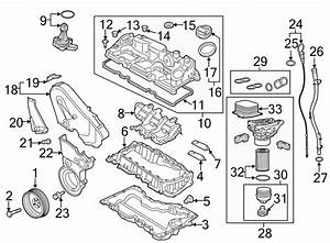 Volkswagen Jetta Bolt  Timing  Cover  Center  Engine  Lower  Shield  2 0 Liter  2 0 Liter