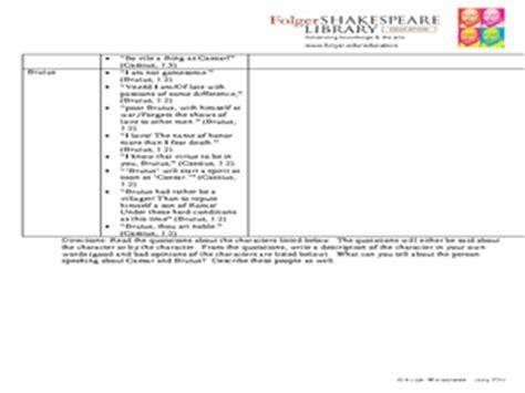julius caesar act i pre reading characterization worksheet