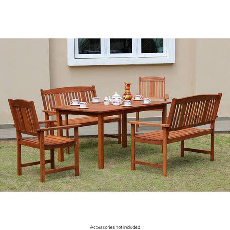 jakarta wooden patio set pc garden outdoor furniture